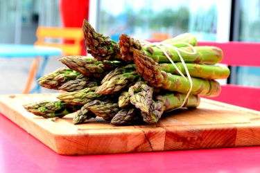 The asparagus season is announced to be open